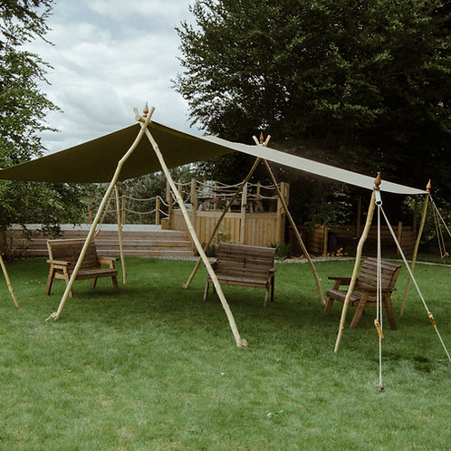 Woodsman's Awning with Light Sand canvas