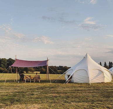 Glamping with a Woodsman's Awning