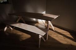 Trestle & wooden Bench