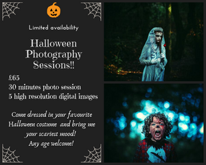 Halloween photography sessions Llanell, Sswansea, carried out in the woods!