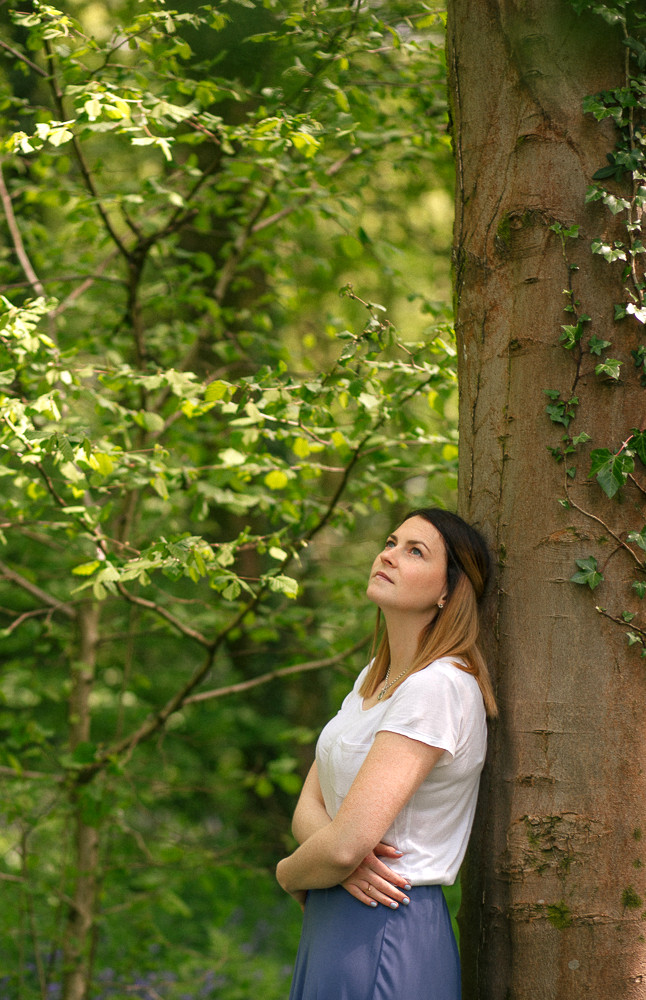 Woman, beauty photography session in Penllergaer Woods