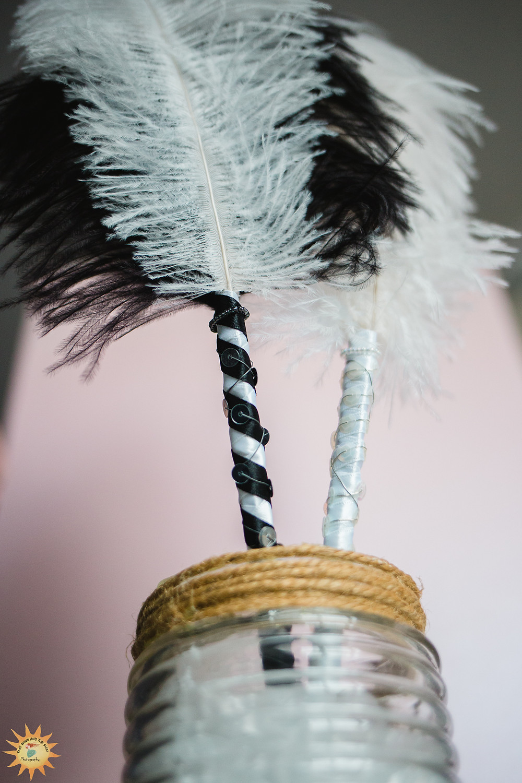 Sarah Louise Designs llanelli  handmade ostrich feather pens
