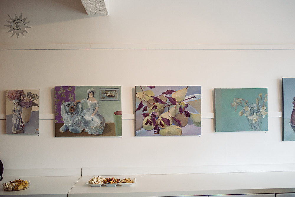 Artist Angela Hughes paintings, Burry Port, Studio 46
