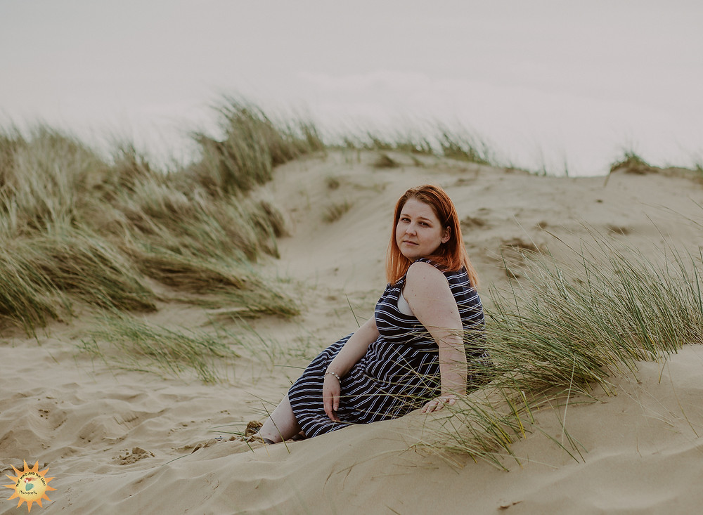 Woman, portrait photography Llanelli, Burry Port Harbour