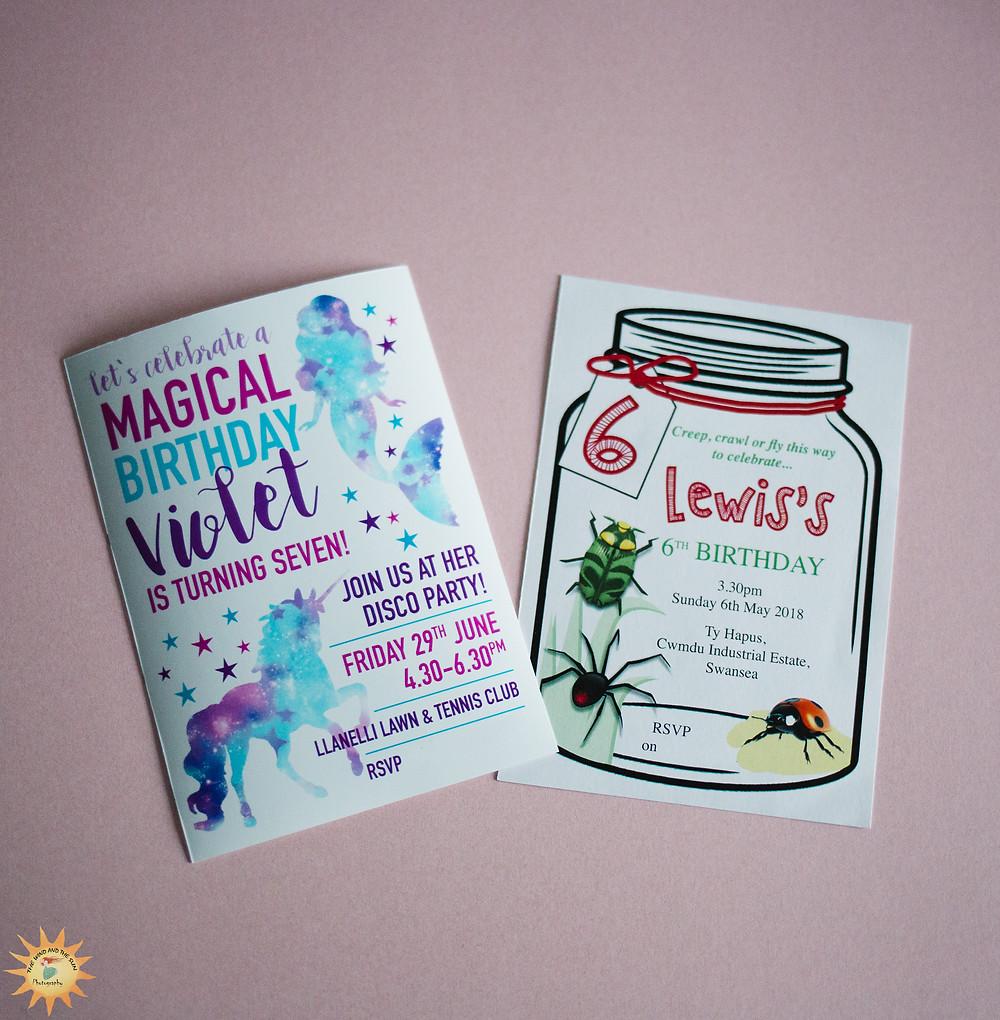 Sarah Louise Designs llanelli  handmade party invitations
