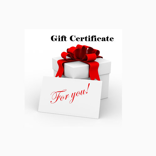 Gift Certificate (Minimum: $30)