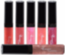 Sheer colour lip gloss