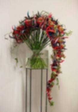 Bouquet cascata e intreccio