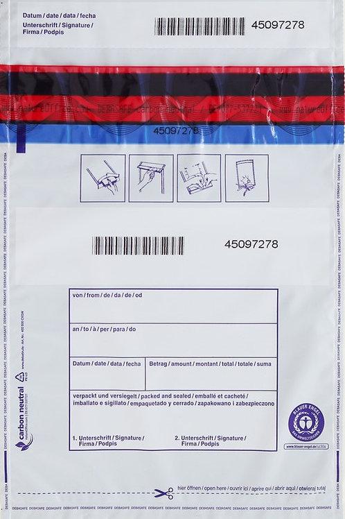 SafeBag, 195 x 265 + 30 (Bon), 50μ, lichtdicht, 500 Stück