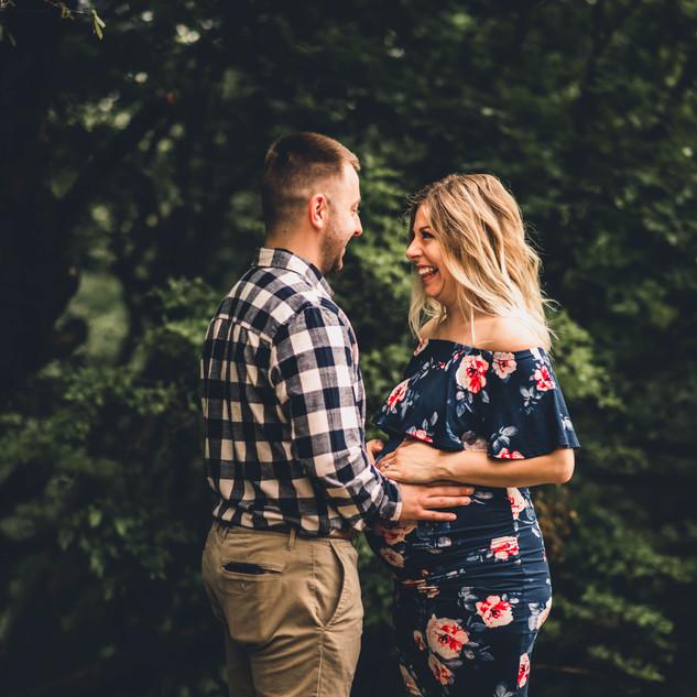 Akron Ohio Couples Maternity Photography