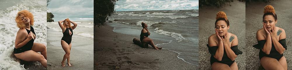Outdoor Lake Erie Boudoir Photography Cleveland Ohio
