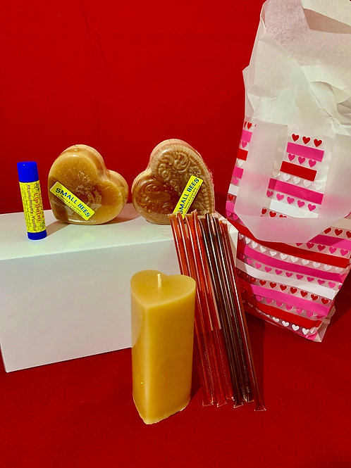 Valentine's Day Gift Set with Candle Plate