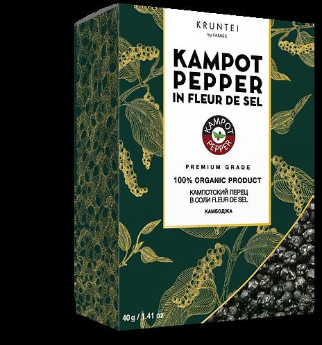 Кампотский перец в кристаллах соли Kampot Fleur de Sel, 40 г