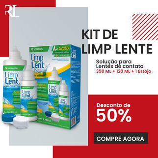 KIT LIMP LENTES DE CONTATO OTICA REDLUX.