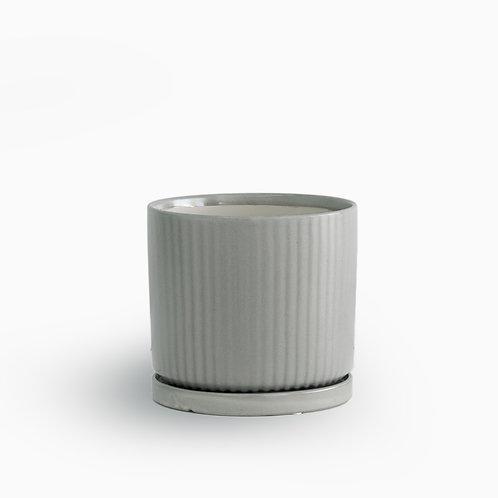 עציץ קופנהגן אפור מפוספס | XL