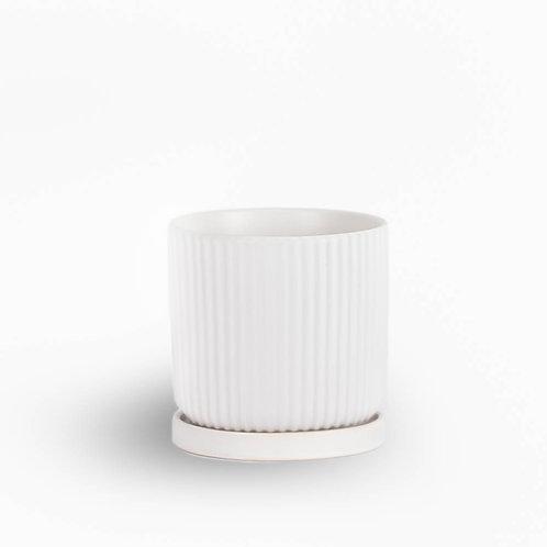 עציץ קופנהגן לבן מפוספס | XL