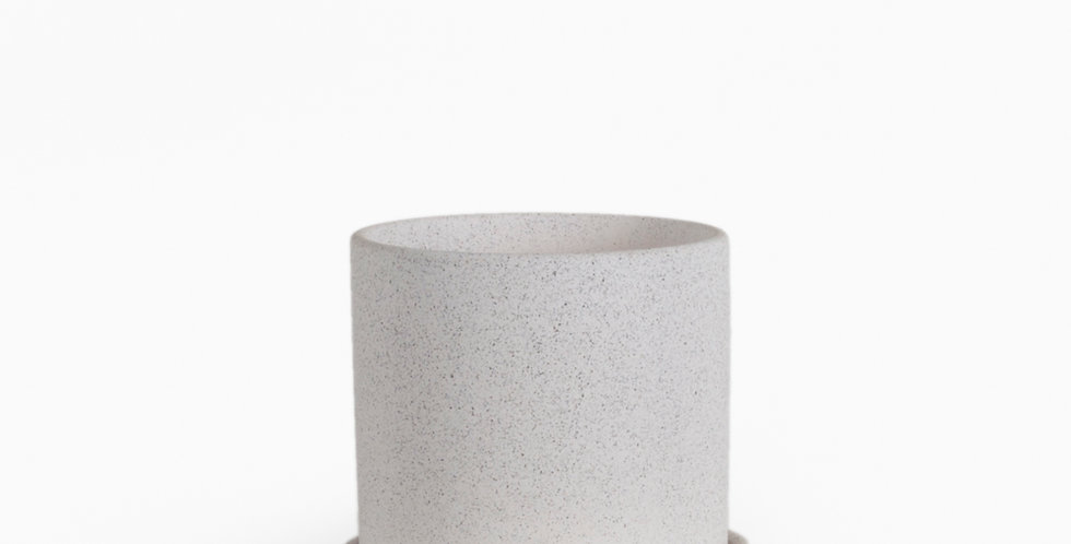 עציץ קופנהגן לבן מחוספס | L