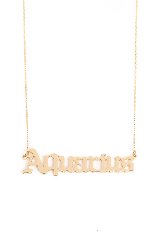 """""""These Are The Signs"""" Necklace in Aquarius"""