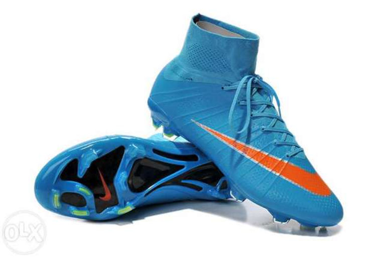 volumen grande comprar baratas para descuento Nike-Mercurial-Superfly-FG-Azul-naranja   controlsinlimites
