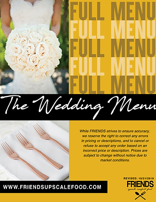 wedding catering friends upscale