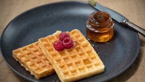 Waffles com queijo quark Santiago