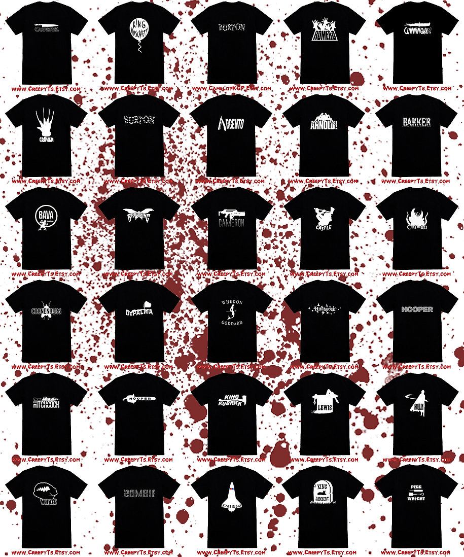 Grid of all Creepy T's for site with blo