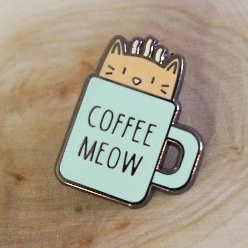 Coffee Meow Pin