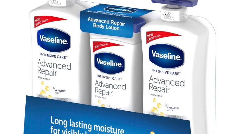 Vaseline Advanced Repair Body Lotion set