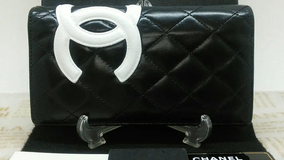 CHANEL Long Wallet Cambon Line