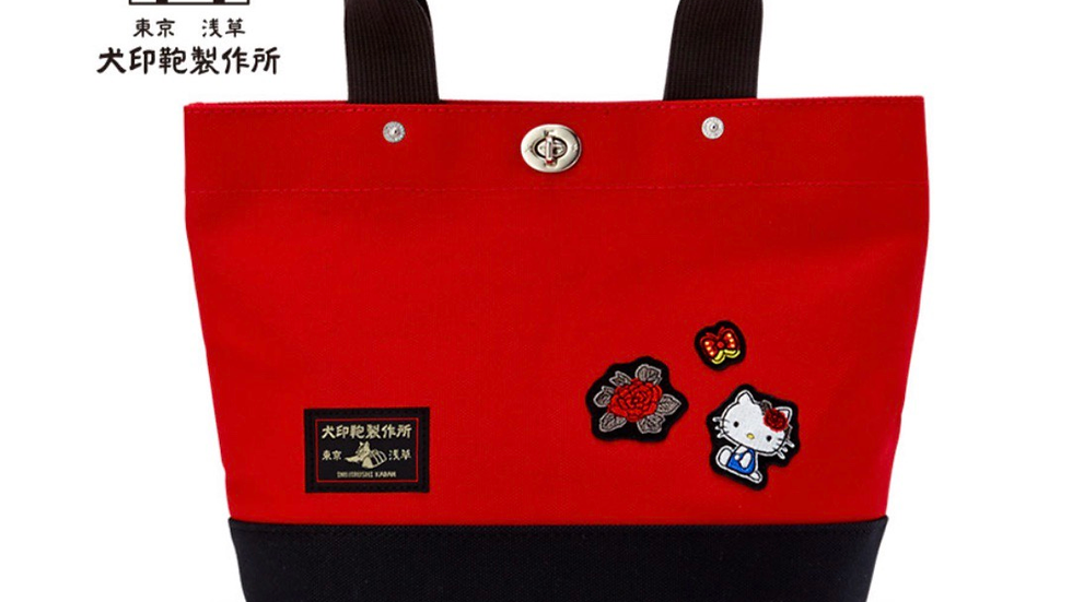 Hello Kitty Inu Bag Manufacturing  Canvas Tote Bag ( Red )