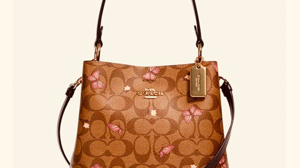Coach Small Town Bucket Bag Signature Canvas in Butterfly print ( 2311 IMR65 )