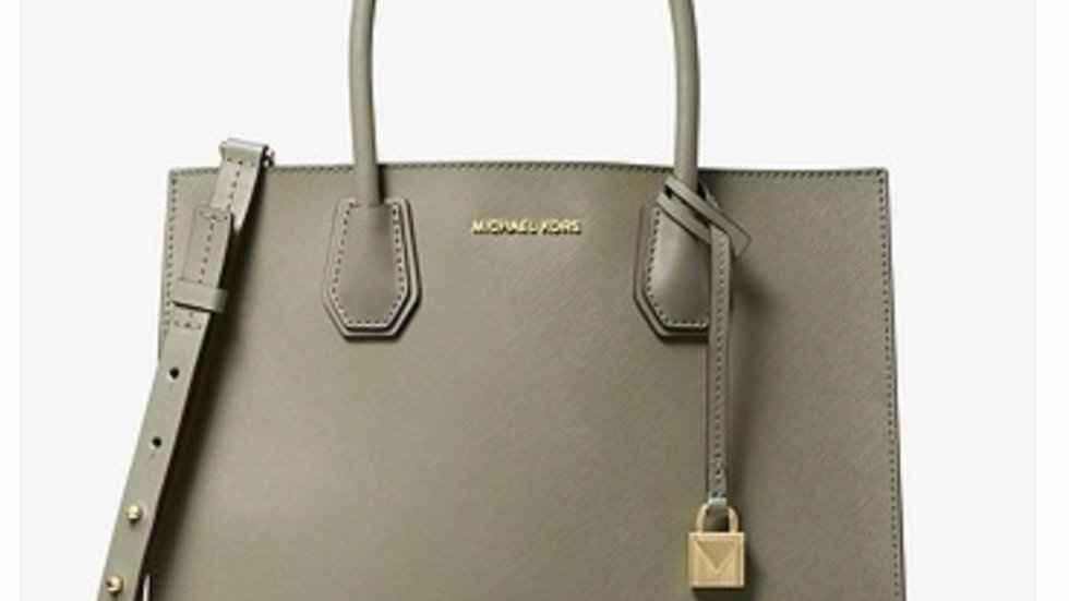 Mercer Large Saffiano Leather Tote Bag