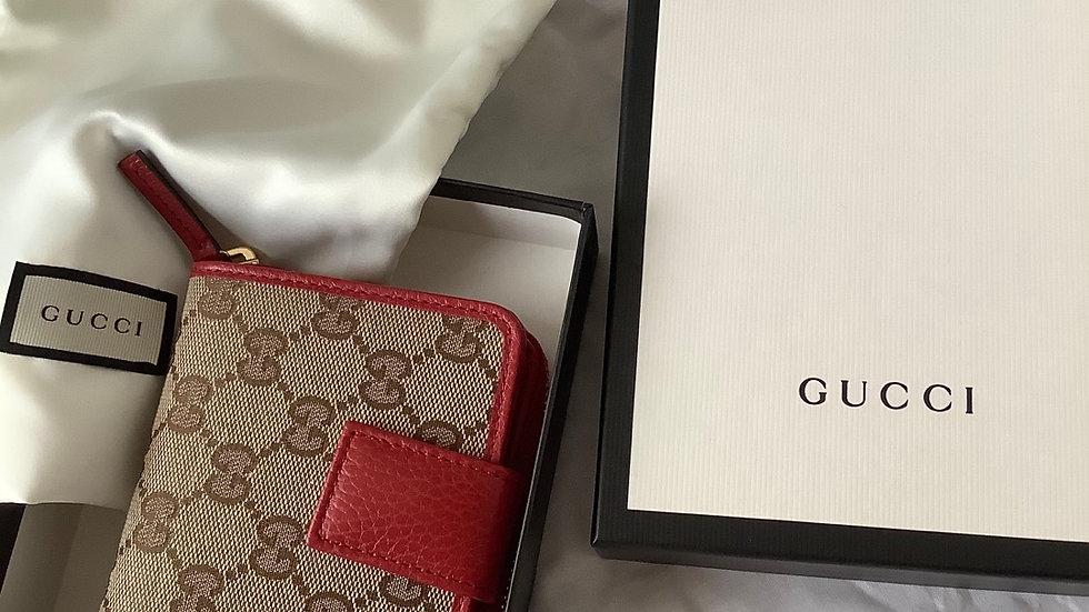 Gucci Canvas Zip Around Wallet 346056KY9LG-U