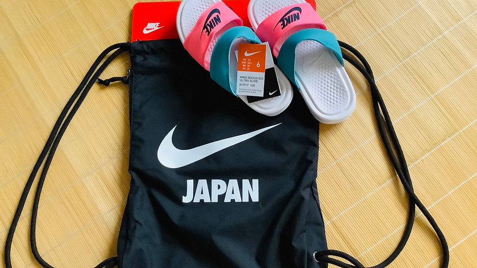 Nike Sandals with backpack