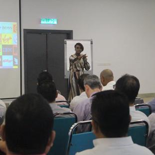 Kubi training staff at Bank of Islam, Malaysia