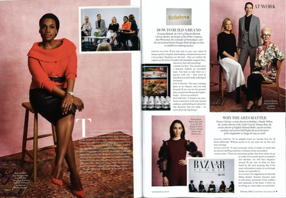 Full Page Feature in Harper's Bazaar Magazine, Feb 2020 Issue