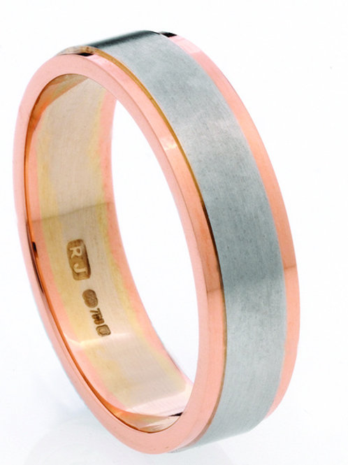 Duo Tone Wedding Band