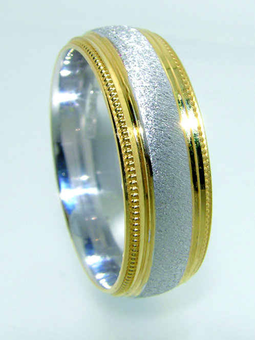 Dual Tone Wedding Band