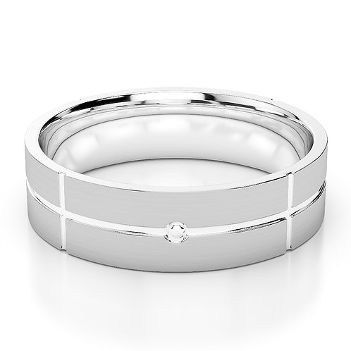 Single Tone Wedding Band