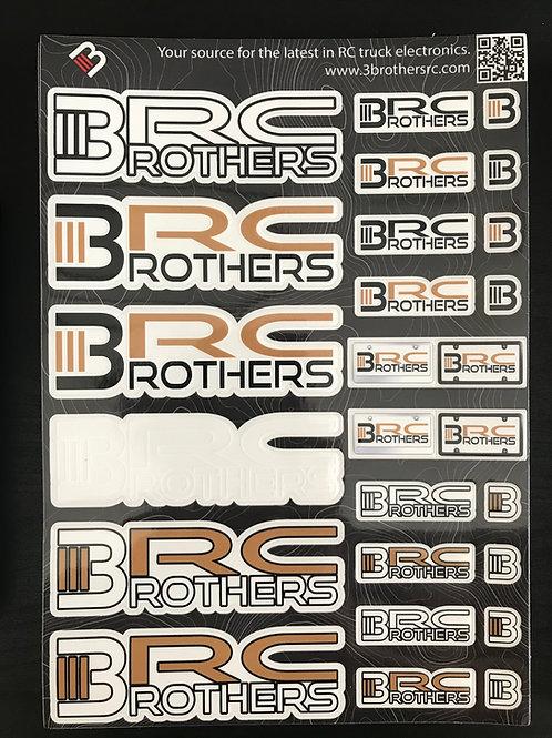 """3BRC Decal Sheet 10"""" x 7"""" golds"""