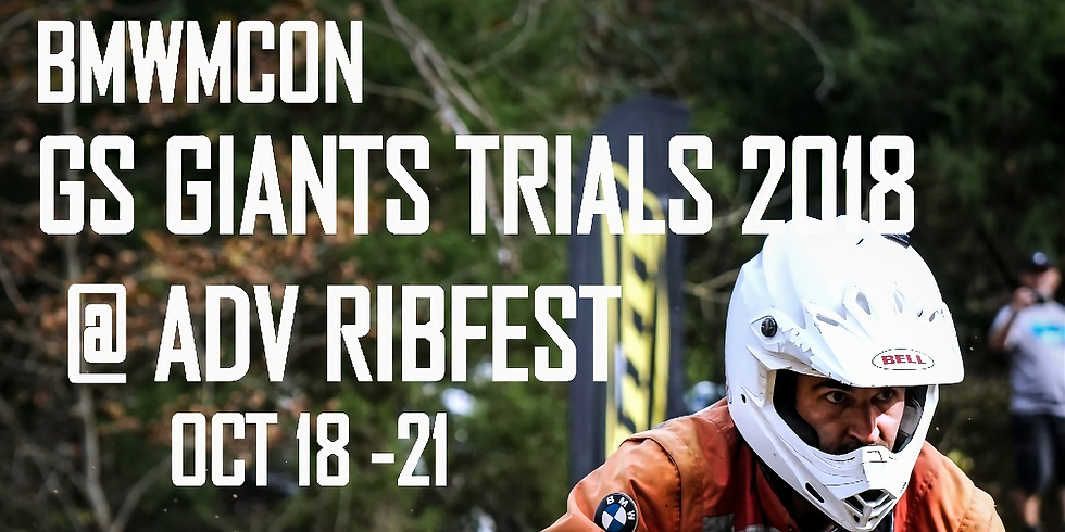 2018 Ribfest Adventure rider training.
