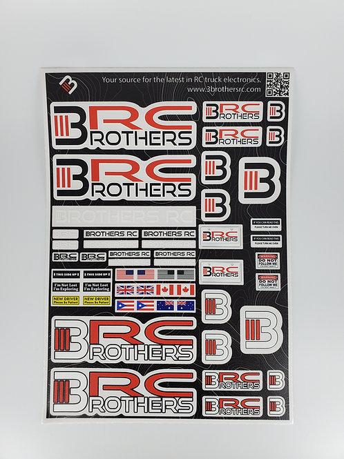 "3BRC Decal Sheet 10"" x 7"""