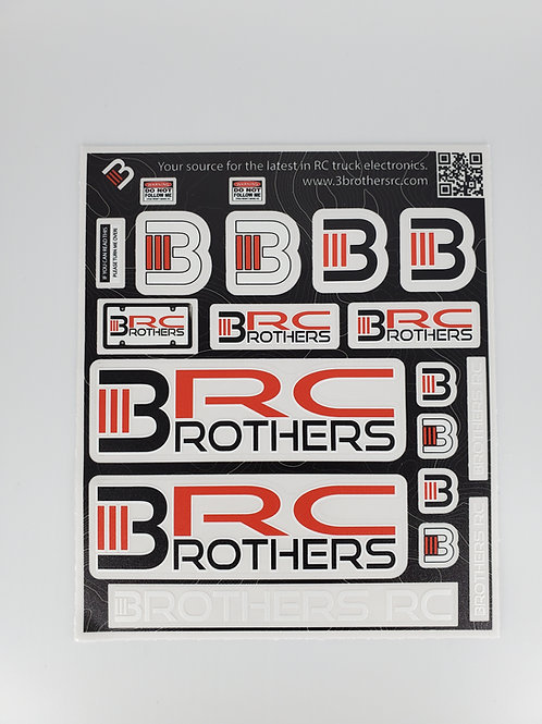 "3BRC Decal Sheet 6.5"" x 5.5"""
