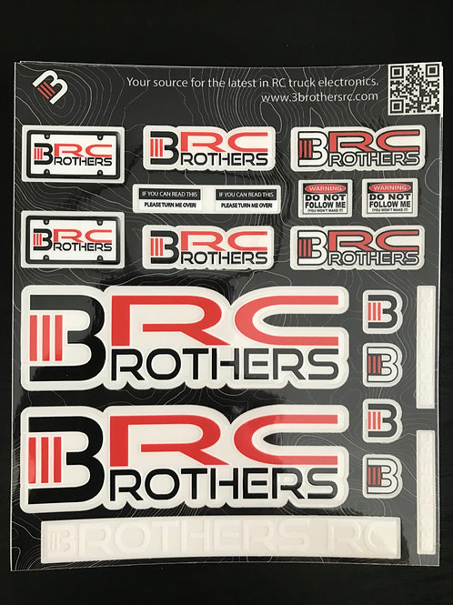 "3BRC Decal Sheet 6.5"" x 5.5"""