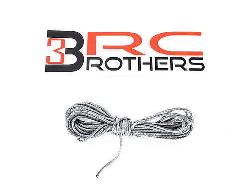 Synthetic winch cable, 10ft. Silver HD