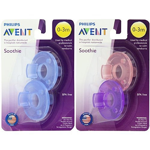 Philips Avent Soothie Pacifier, Blue 0-3 Months, 2 Count