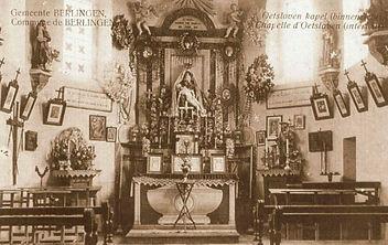 Interieur van de kapel van Oetersloven