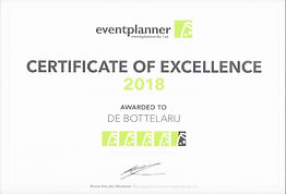 2018 Eventplanner certificate of excelle