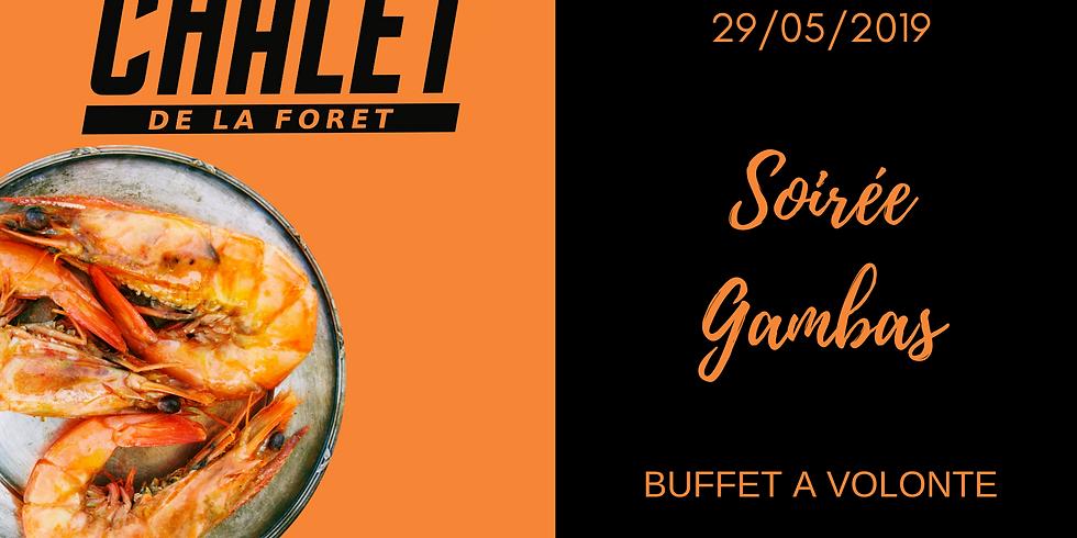Soirée gambas  ( buffet à volonté)
