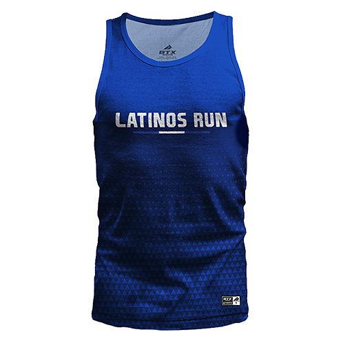 Latinos Run Mens Printed Tank